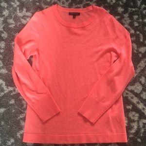Bright coral merino sweater from Banana Republic